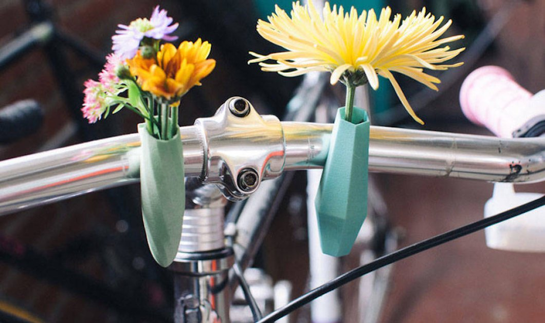 Μια υπέροχη ιδέα: Χαριτωμένα μίνι-ανθοδοχεία, με τρισδιάστατη εκτύπωση, για το ποδήλατό σας! - Κυρίως Φωτογραφία - Gallery - Video