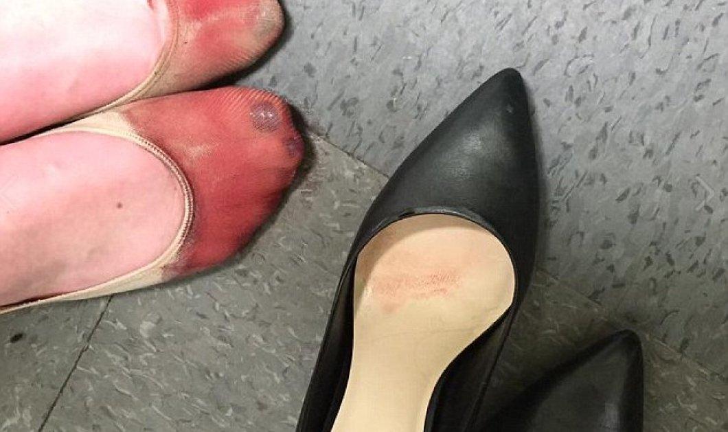 Πλημμύρισε το Twitter με φλατ παπούτσια σε αλληλεγγύη για την γυναίκα που απολύθηκε γιατί δεν έβαζε τακούνι   - Κυρίως Φωτογραφία - Gallery - Video