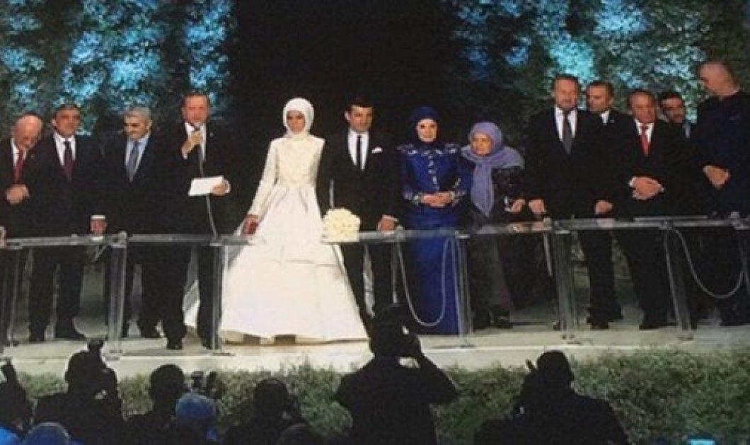 """Ο φαντασμαγορικός γάμος της μικρότερης κόρης του """"Σουλτάνου"""" Ερντογάν (φωτό) -  Μάρτυρας ο Νταβούτογλου! - Κυρίως Φωτογραφία - Gallery - Video"""