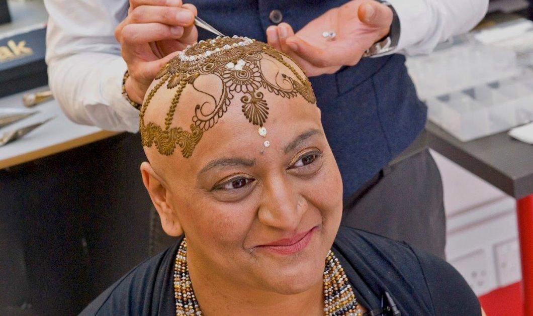 Συγκινητικό: Καλλιτέχνιδα δημιουργεί κορώνες από χένα σε γυναίκες που έχασαν τα μαλλιά τους από καρκίνο - Κυρίως Φωτογραφία - Gallery - Video