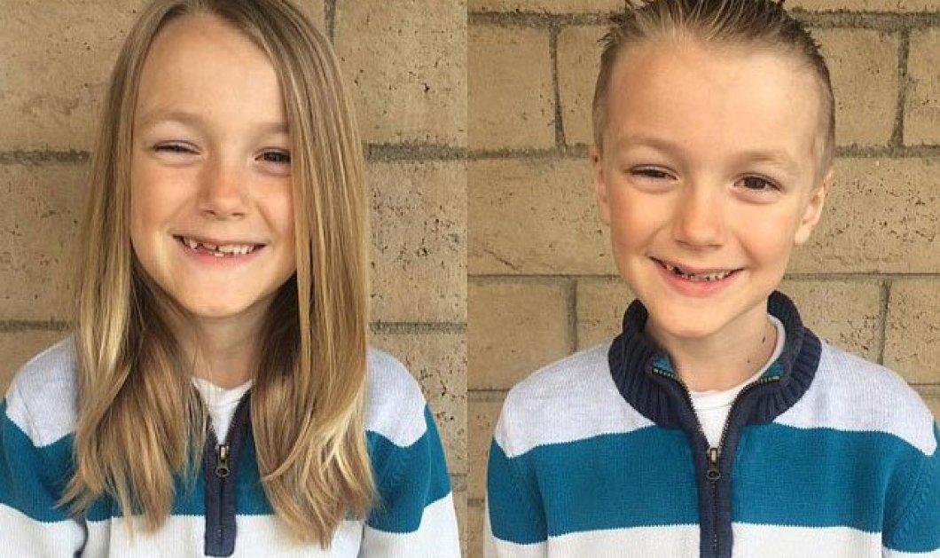 Παγκόσμια θλίψη για τον 7χρονο Vinny που μάκραινε 2 χρόνια τα μαλλιά του για να τα χαρίσει σε καρκινοπαθείς - Έχει καρκίνο - Κυρίως Φωτογραφία - Gallery - Video