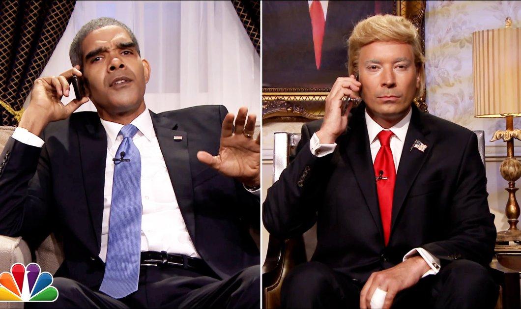Ξεκαρδιστικό βίντεο: Ο Τζίμι Φάλον σε διάλογο «παρωδία» Ομπάμα - Τραμπ - Κυρίως Φωτογραφία - Gallery - Video