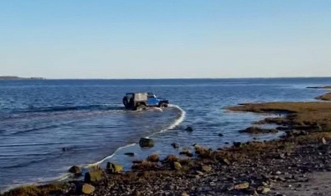 Βίντεο ημέρας: Γκαζιάρης οδηγός τρέχει με το τζιπ του και το βουτάει.... στην θάλασσα - Κυρίως Φωτογραφία - Gallery - Video