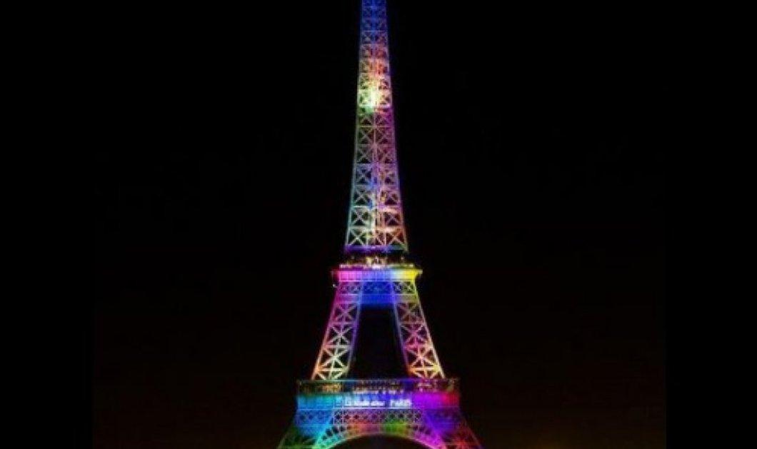 Τα θύματα του μακελειού στο Ορλάντο τιμά ο Πύργος του Άιφελ στα χρώματα του ουράνιου τόξου της κοινότητας LGBT  - Κυρίως Φωτογραφία - Gallery - Video