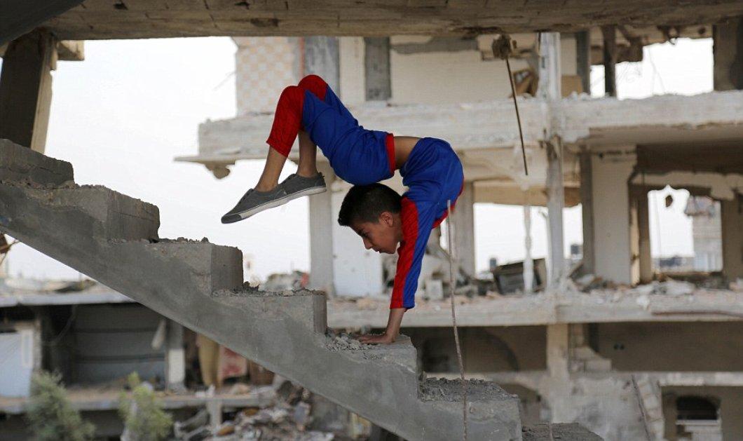 """Γνωρίστε τον μικρό """"Spiderman της Γάζας"""" - Ένας 12χρονος ακροβάτης που κλέβει καρδιές - Κυρίως Φωτογραφία - Gallery - Video"""