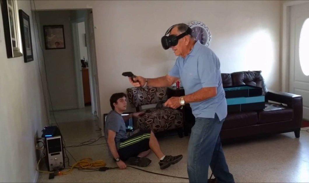 Βίντεο: 81χρονος παίζει παιχνίδι εικονικής πραγματικότητας & επιτίθεται στις κουρτίνες  - Κυρίως Φωτογραφία - Gallery - Video