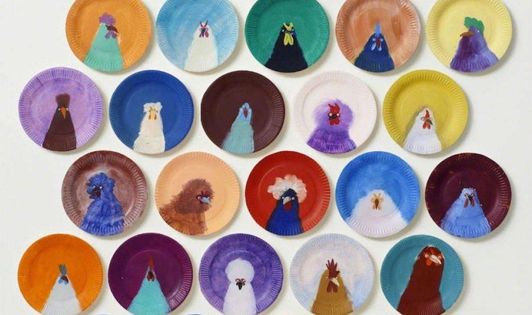 Πάνω στα πιάτα ζωγράφισε υπέροχα... πολύχρωμα κοτόπουλα & το αποτέλεσμα είναι λαχταριστό  - Κυρίως Φωτογραφία - Gallery - Video