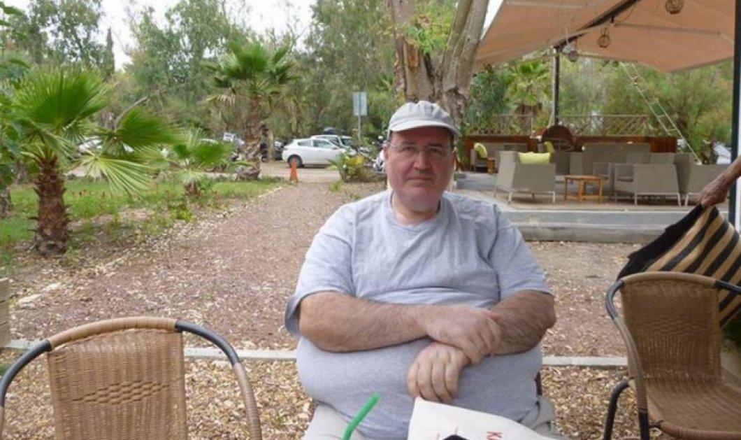 """Με καπελάκι και t-shirt ο Νίκος Φίλης κάνει διακοπές στην Καλαμάτα: Συνέντευξη στην """"Ελευθερία"""" on line  - Κυρίως Φωτογραφία - Gallery - Video"""