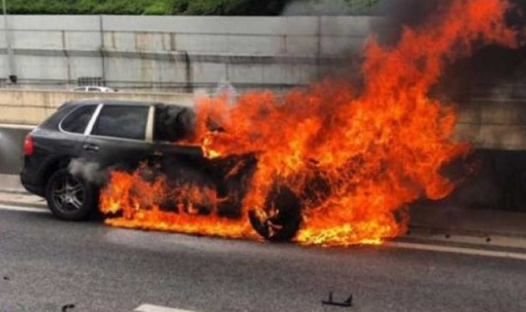 Αυτό είναι το βίντεο από την Αττική Οδό με το τζιπ, την στιγμή που άρπαξε φωτιά και κάηκε ολόκληρος ο Παναγιώτης Μαυρίκος    - Κυρίως Φωτογραφία - Gallery - Video