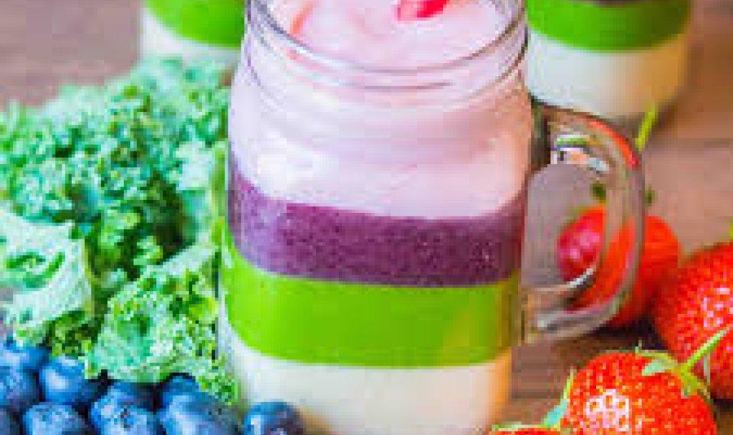 "Smoothies με πολύχρωμες στρώσεις: Food τάση του στυλ ""50 αποχρώσεις του ροζ, του μπλέ, του σοκολά""!  - Κυρίως Φωτογραφία - Gallery - Video"