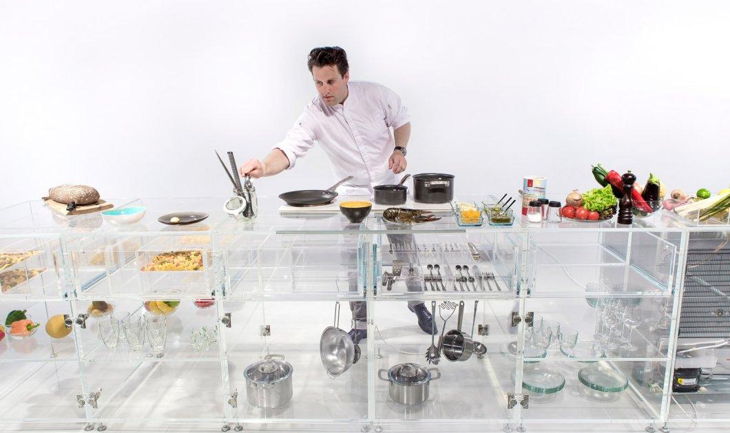 Αυτή είναι η πρώτη see - through κουζίνα: Όλα τα έπιπλα τελείως διαφανή - Η πιο σέξι του κόσμου - Κυρίως Φωτογραφία - Gallery - Video
