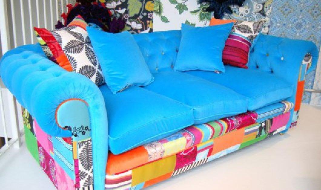 Ο κλασσικός καθώς πρέπει καναπές Chesterfield έγινε τρελιάρης, hippy, hipster & pop! Δείτε φωτό - Κυρίως Φωτογραφία - Gallery - Video