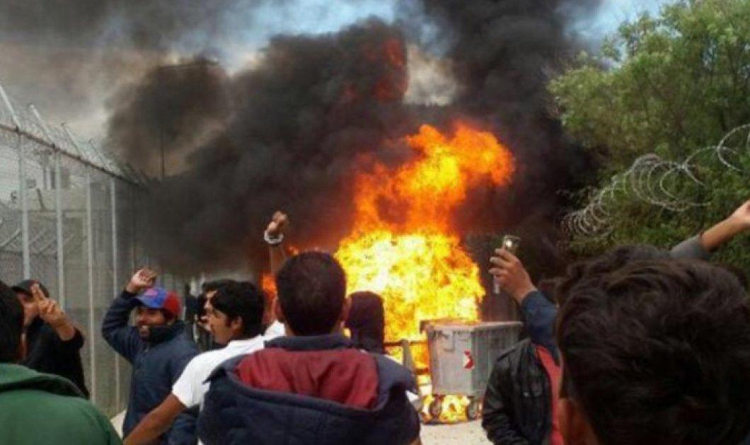 Νύχτα τρόμου στην Μόρια: 15 οι τραυματίες από τα επεισόδια μεταξύ μεταναστών - Έβαλαν φωτιές, εκκενώθηκε από την αστυνομία - Κυρίως Φωτογραφία - Gallery - Video