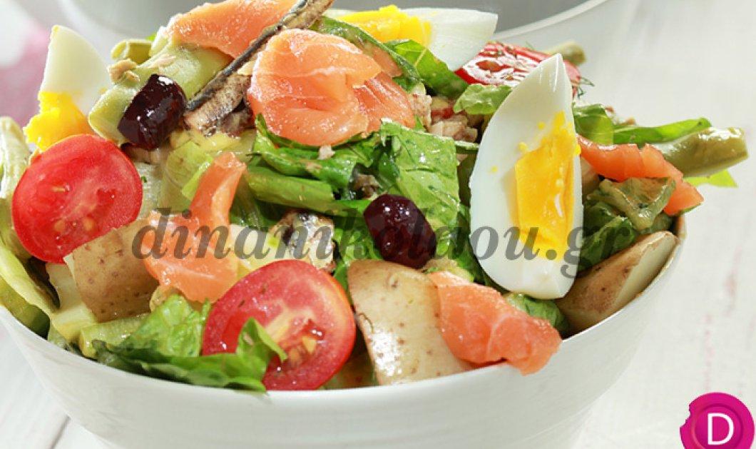 Καλοκαιρινή νισουάζ με φρέσκο τόνο από τη σούπερ σεφ Ντίνα Νικολάου: Η ιδανική σαλάτα - πλήρες γεύμα - Κυρίως Φωτογραφία - Gallery - Video