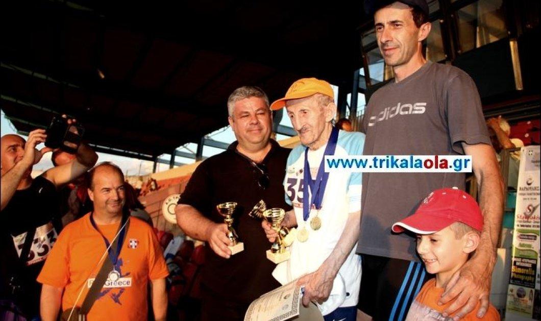 Good news:Ο 101 ετών αθλητής από τα Τρίκαλα τερμάτισε πρώτος (βίντεο) στα 100m στον στίβο - Κυρίως Φωτογραφία - Gallery - Video