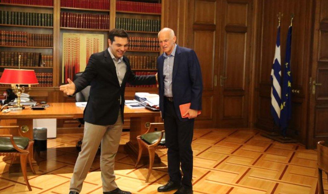 Με πορτοκαλί τάμπλετ ο Παπανδρέου στη συνάντηση του με τον Τσίπρα (ΦΩΤΟ)  - Κυρίως Φωτογραφία - Gallery - Video