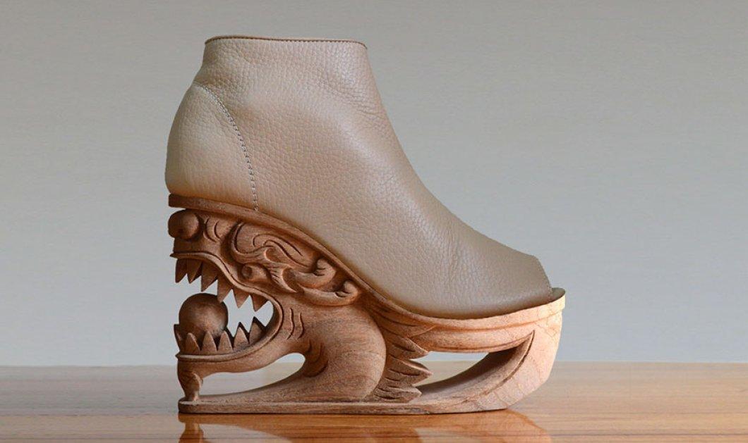 Αυτά τα παπούτσια είναι καλλιτεχνήματα: Πλατφόρμες με σκαλιστό ξύλο & έμπνευση τις παγόδες της Ασίας  - Κυρίως Φωτογραφία - Gallery - Video