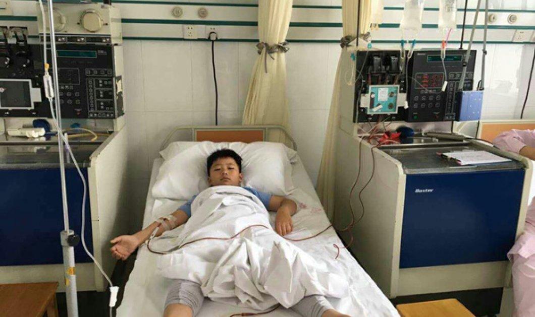 Story of the day: 8χρονο αγόρι πήρε 11 κιλά σε 1 μήνα για να σώσει τον πατέρα του από λευχαιμία με μεταμόσχευση μυελού - Κυρίως Φωτογραφία - Gallery - Video