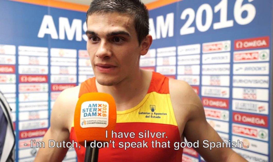 Βίντεο: Δείτε τον αθλητή πώς αντιδρά όταν μαθαίνει από τη δημοσιογράφο ότι πήρε το χρυσό! - Κυρίως Φωτογραφία - Gallery - Video