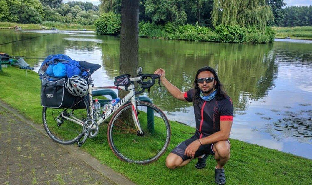 Μade in Greece o 36χρονος Στάθης Ελευθεριάδης: Διένυσε την καρδιά της Ευρώπης πάνω σε 1 ποδήλατο - Κυρίως Φωτογραφία - Gallery - Video