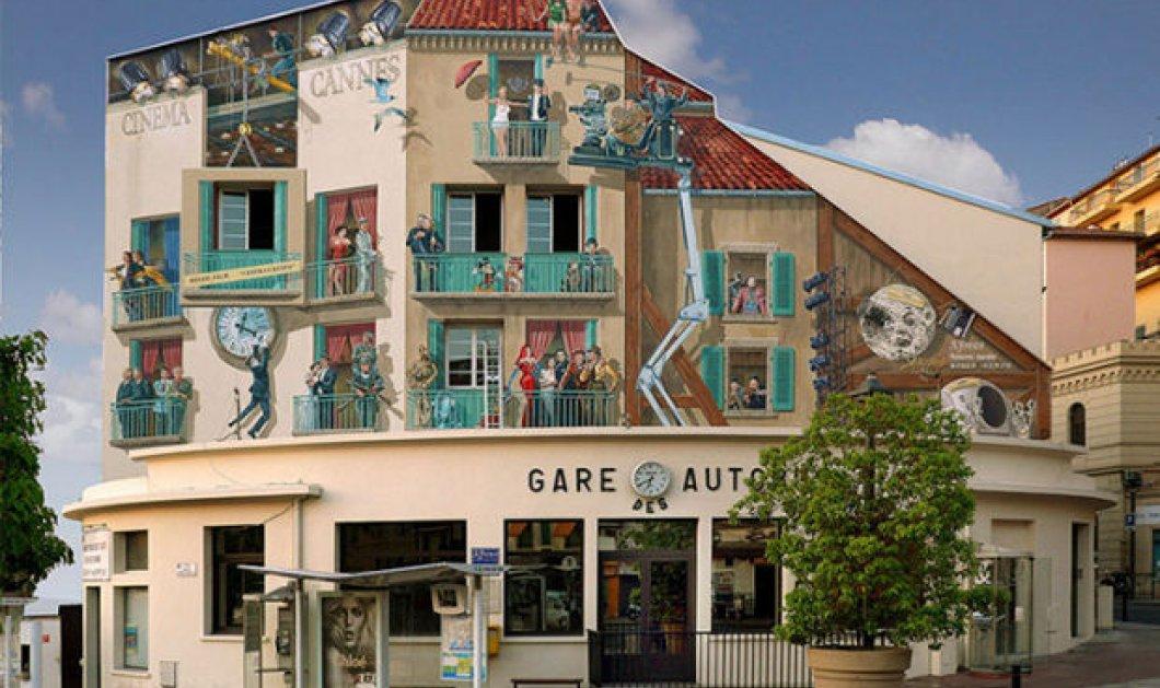 Καταπληκτικός! Ζωγραφίζει ολόκληρες γειτονιές με χρώμα & ζωντάνια σε... βαρετούς τοίχους  - Κυρίως Φωτογραφία - Gallery - Video