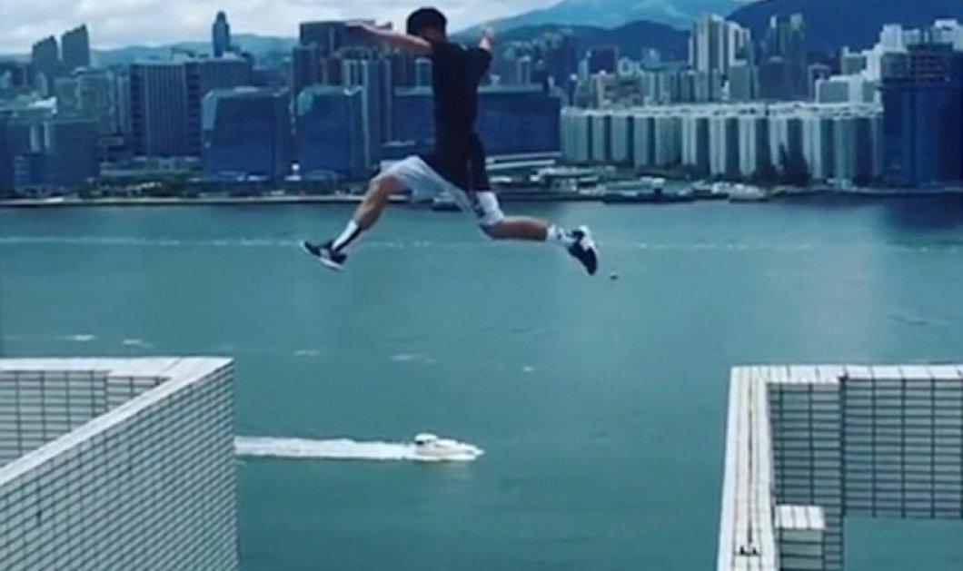 Βίντεο - Σας κόβει το αίμα ο 24χρονος: Πηδάει από ταράτσα σε ταράτσα 25όροφων κτιρίων - Κυρίως Φωτογραφία - Gallery - Video