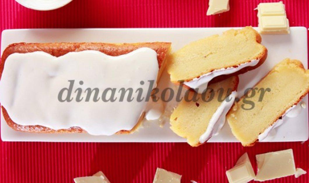 Φανταστικό κέικ με λευκή σοκολάτα και γιαούρτι από την εκπληκτική μας φίλη Ντίνα Νικολάου   - Κυρίως Φωτογραφία - Gallery - Video