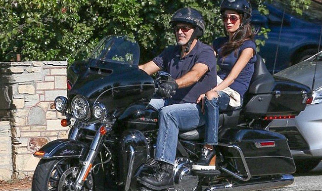 Ο κύριος και η κυρία Κλούνεϊ σε Harley με τζιν: Η Αμάλ Αλαμουντίν με πλατφόρμα & μοδάτα γυαλιά - Φώτο    - Κυρίως Φωτογραφία - Gallery - Video