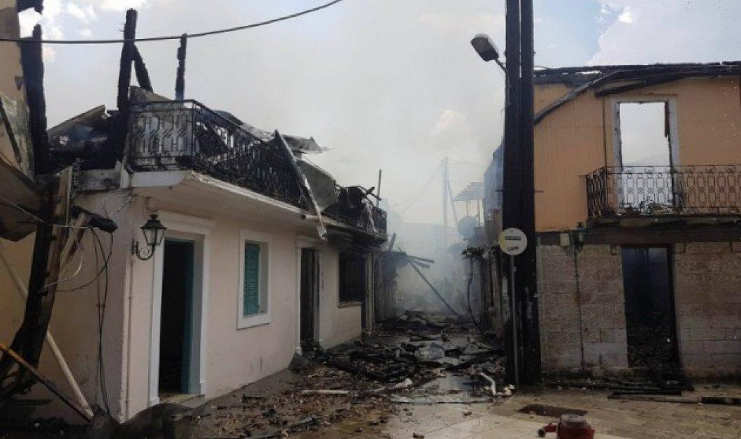 Πυρκαγιά Λευκάδα: Περίπου 10 τα κτίρια που κάηκαν - Κυρίως Φωτογραφία - Gallery - Video