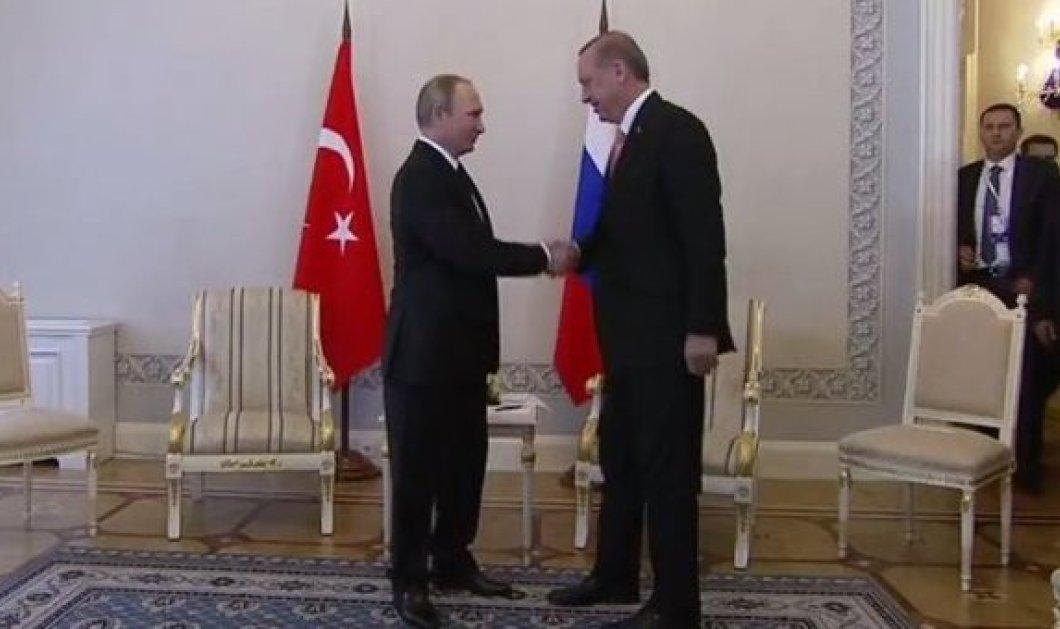 Σε εξέλιξη η συνάντηση κορυφής Πούτιν - Ερντογάν: Τι δηλώνει ο Ρώσος Πρόεδρος - Κυρίως Φωτογραφία - Gallery - Video