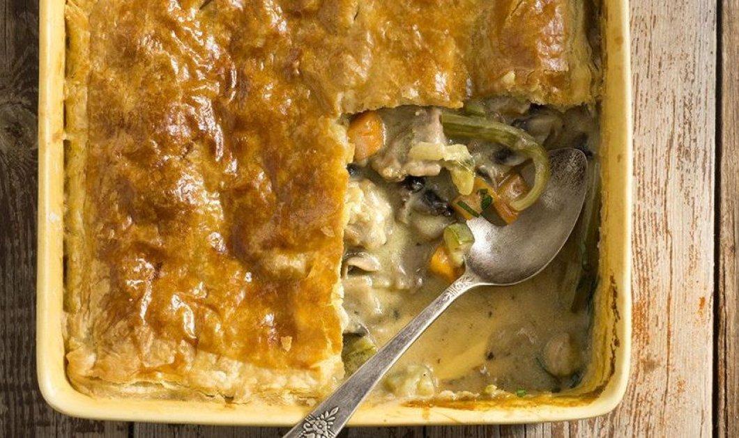 Καλοκαιρινή πίτα με κοτόπουλο και λαχανικά του Άκη Πετρετζίκη - Κυρίως Φωτογραφία - Gallery - Video