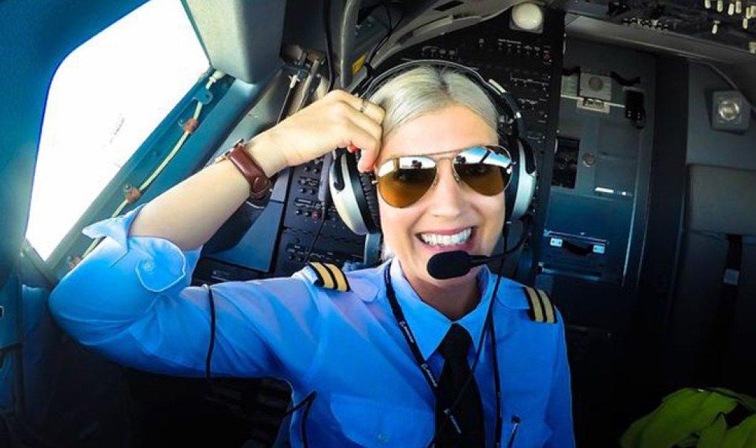 Ξανθιά πιλότος κάνει θραύση στο διαδίκτυο με τις σέξι selfies μέσα από το cockpit  - Κυρίως Φωτογραφία - Gallery - Video