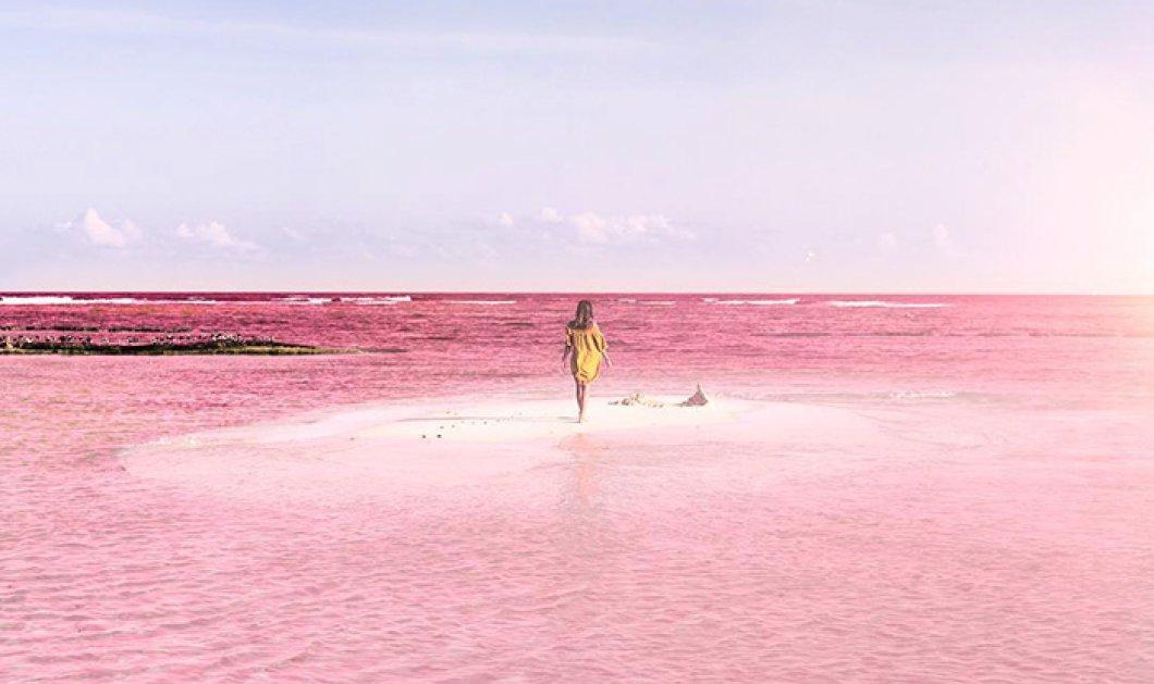 Μια εντυπωσιακή ροζ λιμνοθάλασσα στο Μεξικό μαγεύει τους «φωτογράφους» του Instagram - Κυρίως Φωτογραφία - Gallery - Video