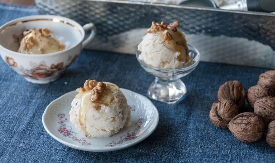 Το παγωτό του καλοκαιριού: Πραλίνα με κομμάτια φουντουκιού από τον Άκη Πετρετζίκη - Κυρίως Φωτογραφία - Gallery - Video