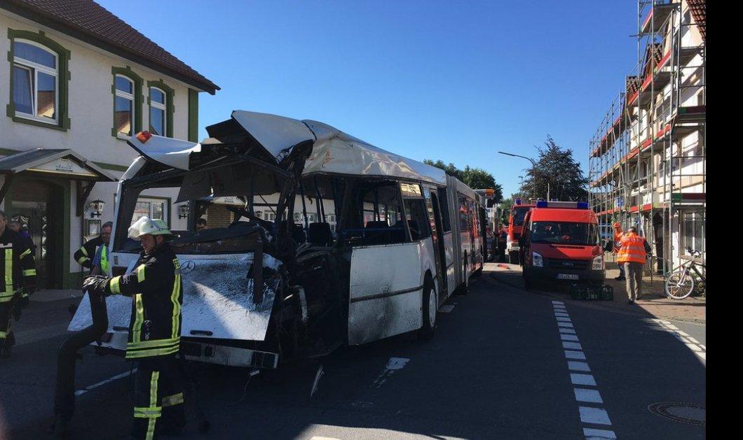 Πανικός στην Γερμανία: Τρένο συγκρούστηκε με σχολικό λεωφορείο - Τουλάχιστον 10 τραυματίες - Κυρίως Φωτογραφία - Gallery - Video