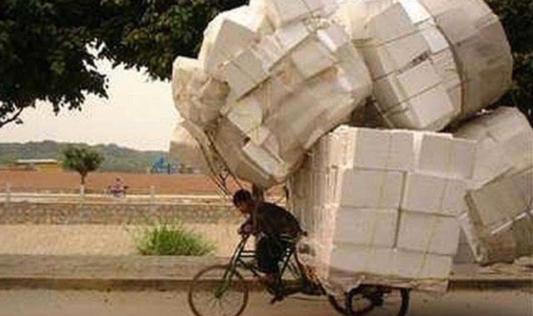 Ποδήλατα ή φορτηγά; Στις φώτο θα δείτε ότι το ....ποδηλατάκι μεταφέρει τα πάντα!   - Κυρίως Φωτογραφία - Gallery - Video