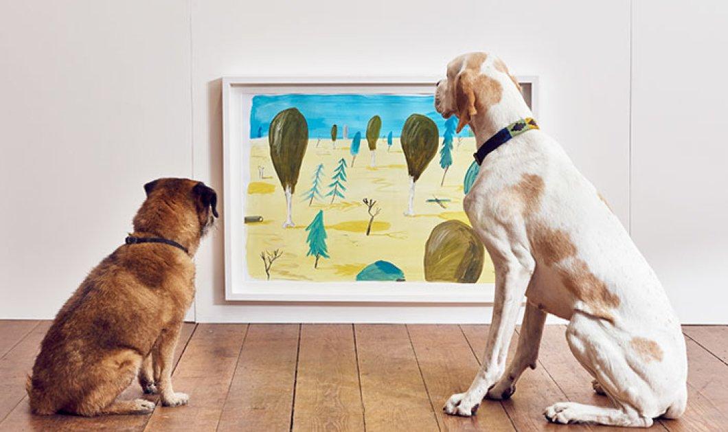 Η πρώτη έκθεση τέχνης αποκλειστικά για σκύλους είναι γεγονός - Χαρούμενα βίντεο και φωτό - Κυρίως Φωτογραφία - Gallery - Video