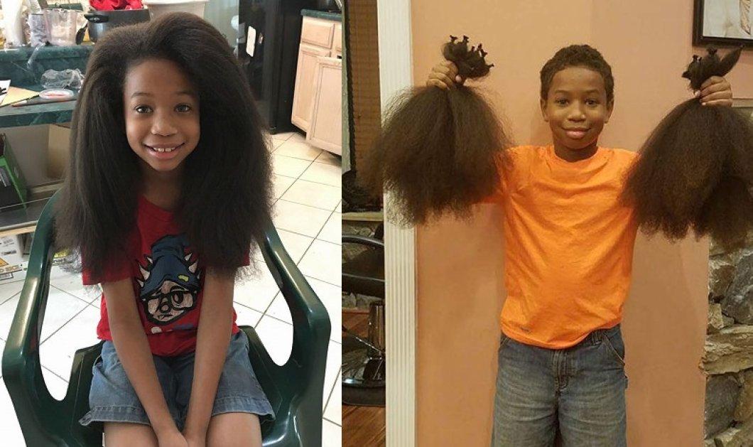 Ένα 8χρονο αγόρι πέρασε 2 χρόνια χωρίς να κουρευτεί - Ήθελε να χαρίσει τα μαλλιά του στα παιδιά με καρκίνο  - Κυρίως Φωτογραφία - Gallery - Video