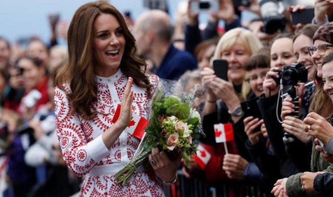 To φόρεμα των 4.000 λιρών που φόρεσε η Κέιτ Μίντλετον στον Καναδά: Δημιουργία του Alexander McQueen - Φώτο  - Κυρίως Φωτογραφία - Gallery - Video