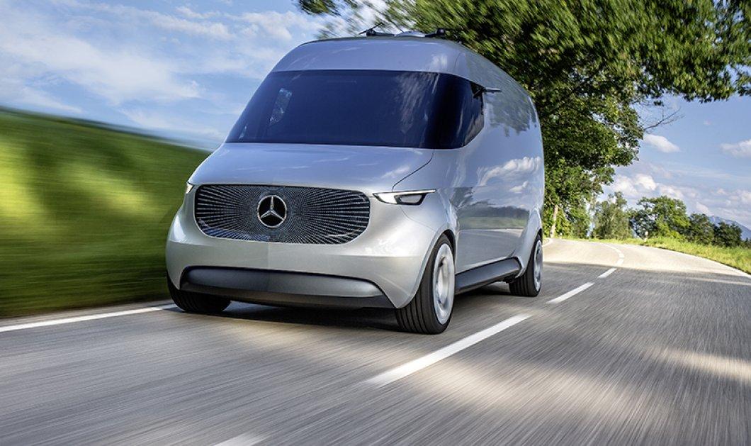 Η Mercedes μόλις μας έστειλε δεκάδες χρόνια στο μέλλον - Δείτε το απίστευτο, νέο, ηλεκτρικό της... βανάκι!     - Κυρίως Φωτογραφία - Gallery - Video