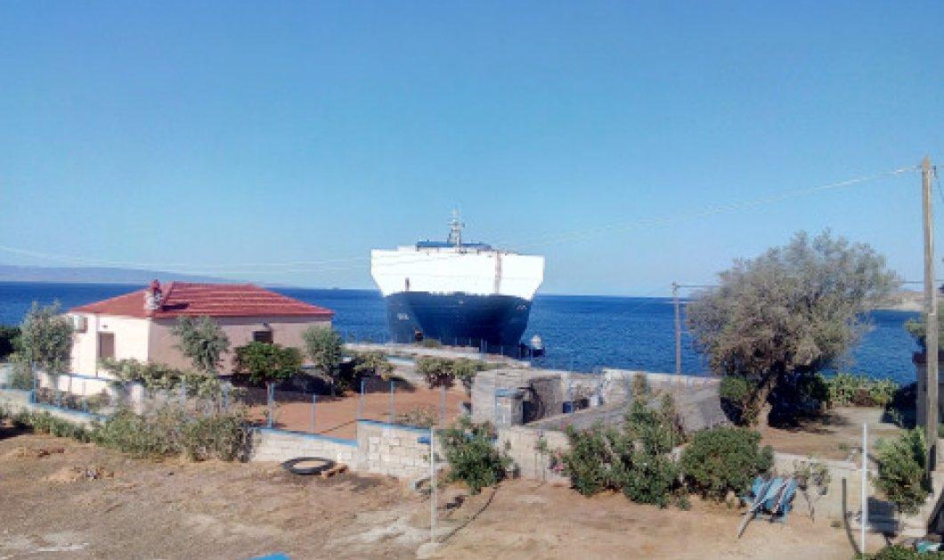 Καράβι βγήκε στη στεριά... Τουρκικό φορτηγό πλοίο προσάραξε σε οικισμό στη Λακωνία! (φωτό)  - Κυρίως Φωτογραφία - Gallery - Video