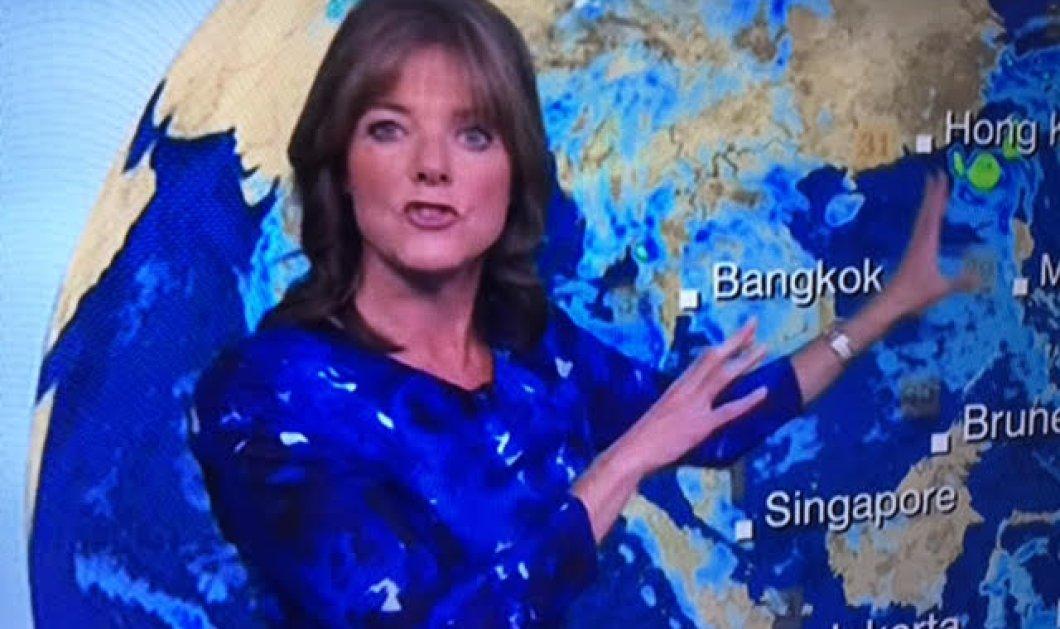 Η παρουσιάστρια του καιρού έβαλε το ίδιο ακριβώς φουστάνι με τον χάρτη του σκηνικού της!  - Κυρίως Φωτογραφία - Gallery - Video