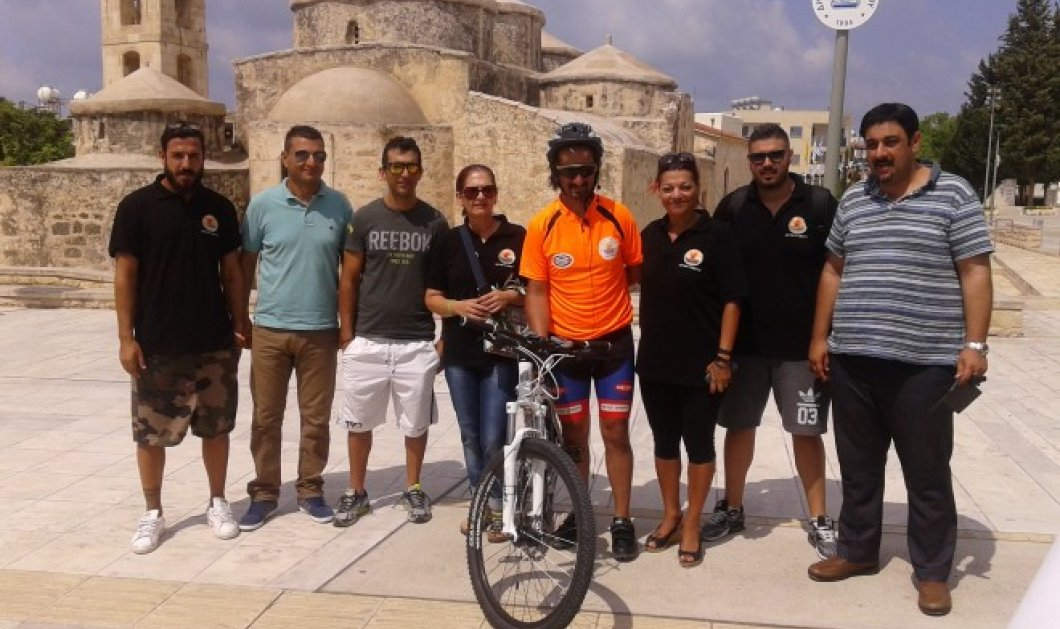 Good news: Ένας πρώην καρκινοπαθής από τη Λευκωσία διένυσε 500 χλμ με το ποδήλατό του για έναν πολύ καλό σκοπό - Κυρίως Φωτογραφία - Gallery - Video