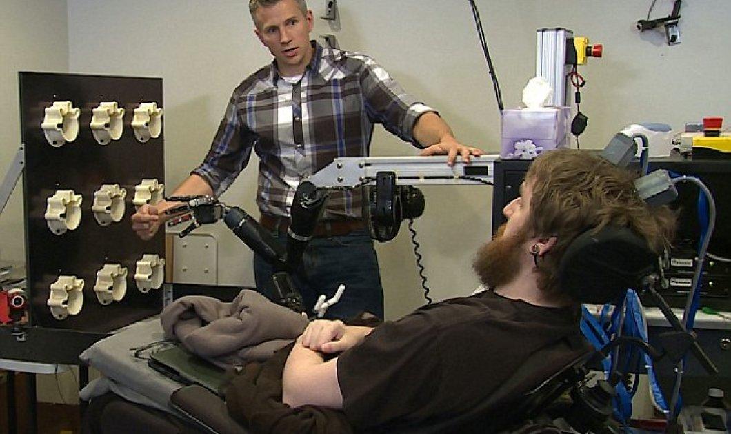 Βίντεο: Παράλυτος απέκτησε για πρώτη φορά αίσθηση αφής στο ρομποτικό χέρι του  - Κυρίως Φωτογραφία - Gallery - Video