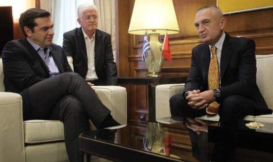 To τετ α τετ του Προέδρου της αλβανικής βουλής με τον Τσίπρα: Μας συμφέρει όλους μια ισχυρή Ελλάδα - Κυρίως Φωτογραφία - Gallery - Video