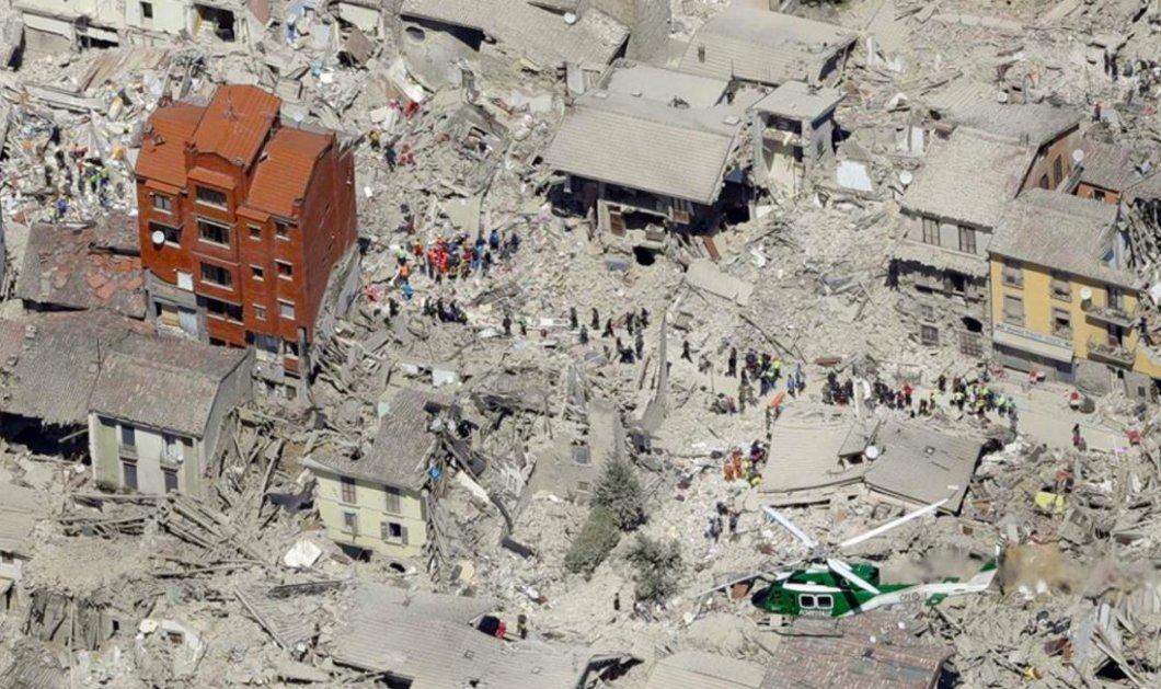 Κατέρρευσε το 4όροφο κόκκινο κτίριο - σύμβολο των θυμάτων του σεισμού στο Αματρίτσε  - Κυρίως Φωτογραφία - Gallery - Video