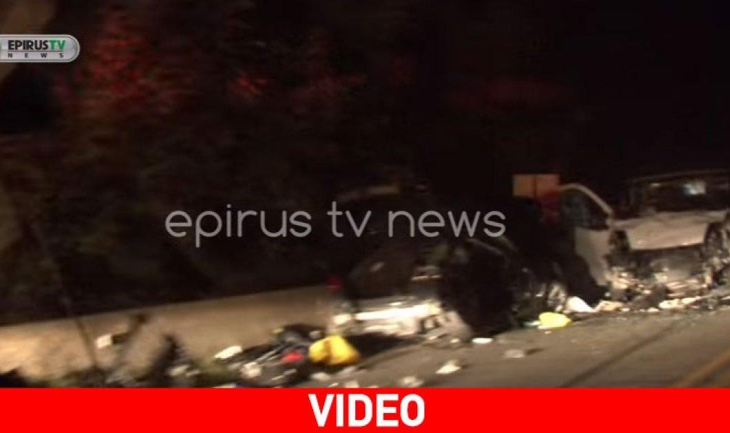 Τραγωδία στην άσφαλτο: 3 νεκροί στην Εθνική Οδό Ιωαννίνων - 'Αρτας - Κυρίως Φωτογραφία - Gallery - Video