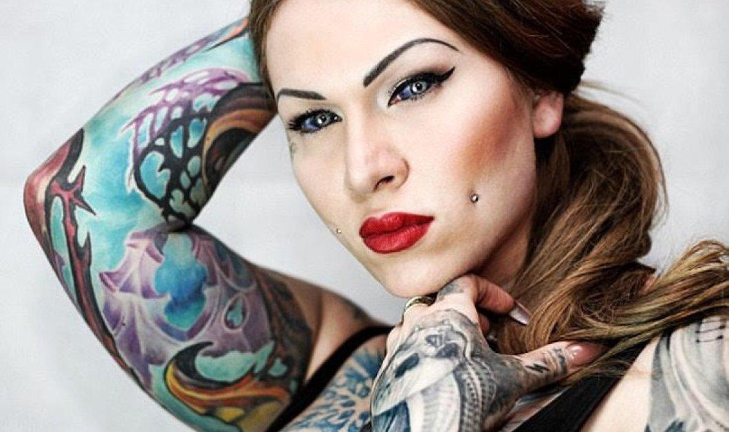 32χρονη tattoo artist κινδυνεύει με τύφλωση: Έκανε τα μάτια της μωβ - μπλε & τη γλώσσα της σαν φιδιού  - Κυρίως Φωτογραφία - Gallery - Video