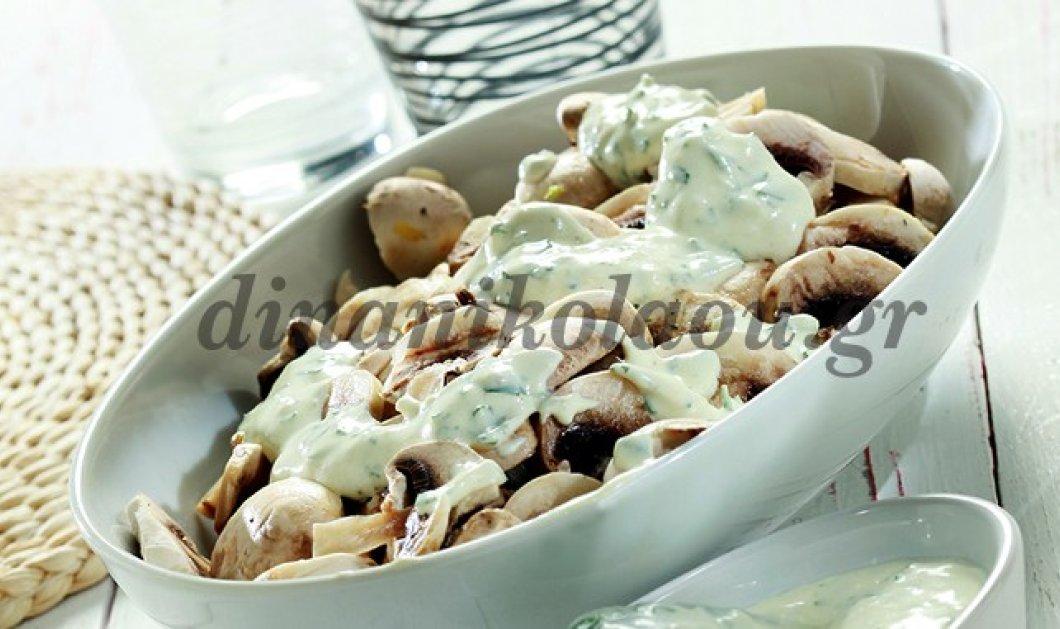 Λαχταριστή σαλάτα με μανιτάρια και κρέμα μαϊντανού της Ντίνας Νικολάου - Κυρίως Φωτογραφία - Gallery - Video