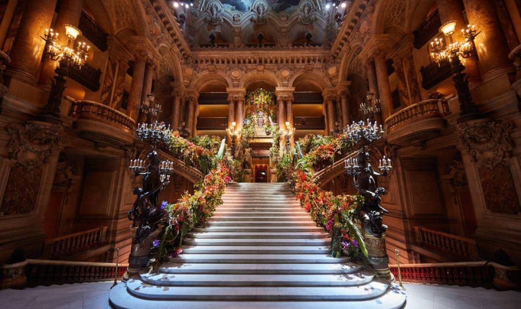 12 εικόνες από την εκθαμβωτική διακόσμηση στην Όπερα του Παρισιού - Χρυσός & λουλούδια σε ένα γκαλά που άφησε εποχή - Κυρίως Φωτογραφία - Gallery - Video